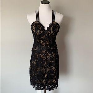 Black lace Bebe dress